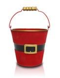 Santa Claus Gift Pail Stock Image