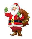 Santa Claus with gift sack. Christmas Royalty Free Stock Photo