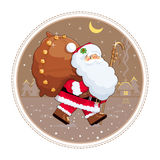 Santa Claus with gift sack Stock Photography