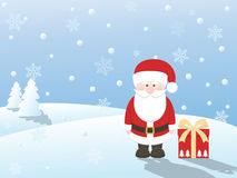 Santa claus with gift stock images