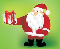Santa Claus with gift for you Royalty Free Stock Image