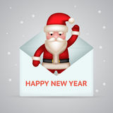 Santa claus with giftbox new year merry christmas Stock Photos