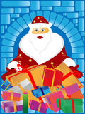 Santa Claus and gifts Royalty Free Stock Photos