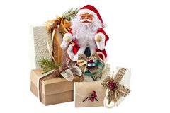 Santa Claus and gifts Royalty Free Stock Photography