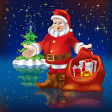 Santa Claus with gifts Royalty Free Stock Images