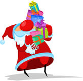 Santa Claus with gifts. Santa Claus with many gifts Royalty Free Stock Photo
