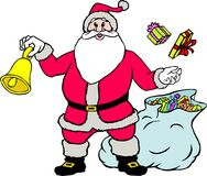 Santa claus with gifts. Santa claus in uniform with gifts Royalty Free Stock Photography
