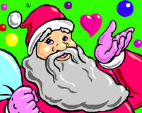 Santa claus with gifts. Santa claus in uniform with gifts Royalty Free Stock Images