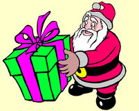 Santa claus with gifts. Santa claus in uniform with gifts Royalty Free Stock Image