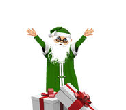 Santa Claus. With gifts without background Vector Illustration