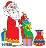 Santa Claus with Gifts Cartoon Royalty Free Stock Image
