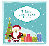 Santa Claus and gifts for the Christmas Stock Photography