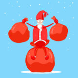 Santa Claus Gifts Christmas Stock Illustrationer