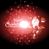 Santa Claus and gifts with Christmas background and greeting card vector Royalty Free Stock Photography
