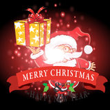Santa Claus and gifts with Christmas background and greeting card vector Stock Image