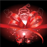 Santa Claus and gifts with Christmas background and greeting card vector Royalty Free Stock Photos