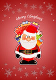 Santa Claus with gifts for Christmas Stock Image