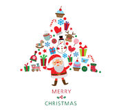 Santa Claus with gifts Stock Image