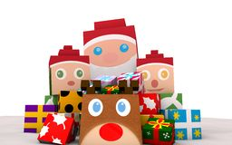 Santa Claus Gifts with deer Royalty Free Stock Images