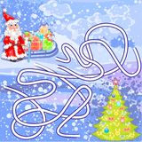 Santa Claus and gifts Stock Photography