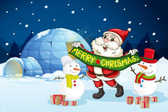 Santa claus and gifts Stock Image