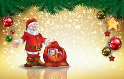 Santa Claus with gifts Stock Images