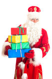 Santa Claus with gifts. Royalty Free Stock Image