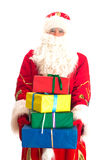 Santa Claus with gifts. Stock Photo