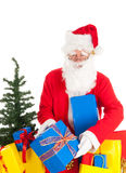 Santa Claus with gifts Stock Photo