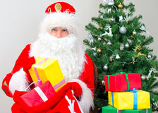 Santa Claus with gifts. Stock Photography