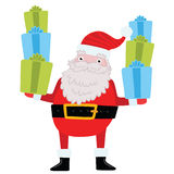Santa Claus with gifts and presents. Stock Images