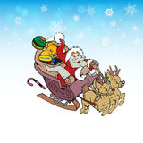 Santa Claus with gifts and reindeer Royalty Free Stock Photos