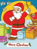 Santa Claus with gifts. Stock Image