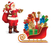 Santa claus with gifts Royalty Free Stock Photography