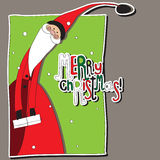 Santa Claus with gifts. Vector. Stock Photography