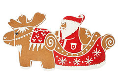Santa Claus gingerbread Royalty Free Stock Images
