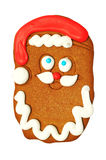 Santa Claus gingerbread cookie Royalty Free Stock Photography