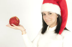 Santa Claus Girl Stock Images