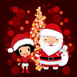 Santa claus and girl Stock Photography