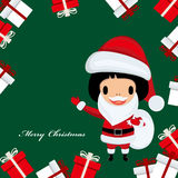 Santa claus girl Royalty Free Stock Photography