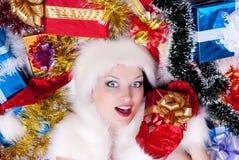 Santa Claus girl Royalty Free Stock Image