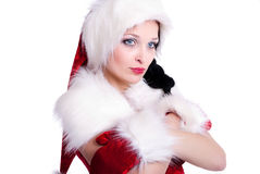 Santa Claus Girl Stock Photos