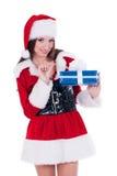 Santa Claus girl Royalty Free Stock Photos
