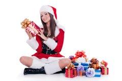 Santa Claus girl Stock Photos