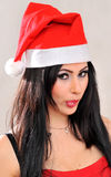 Santa claus girl Stock Photography
