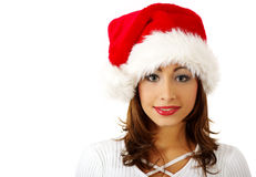 Santa claus girl Stock Photo
