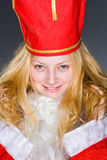 Santa Claus Girl with hat Royalty Free Stock Photos