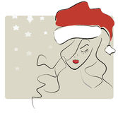 Santa Claus Girl Royalty Free Stock Photo