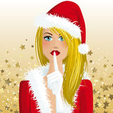 Santa Claus girl Stock Image