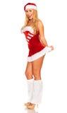 Santa Claus girl Stock Images